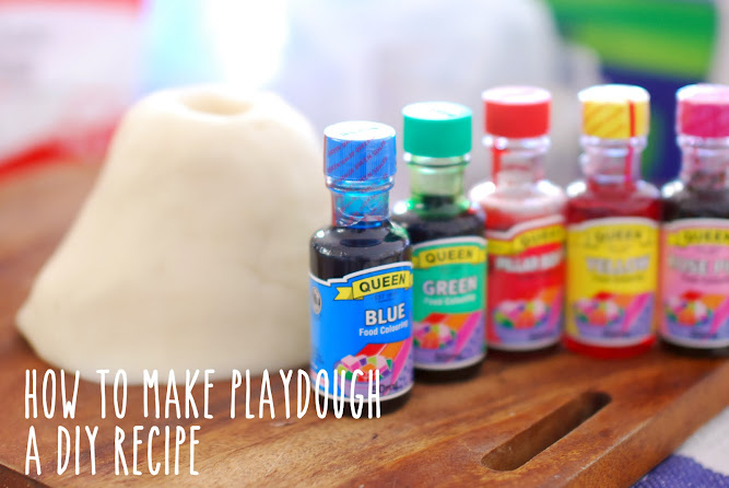How to make Playdough play-doh DIY Recipe Food Colouring