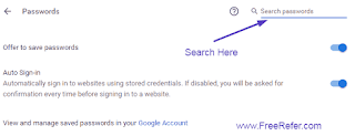 search password in chrome browser