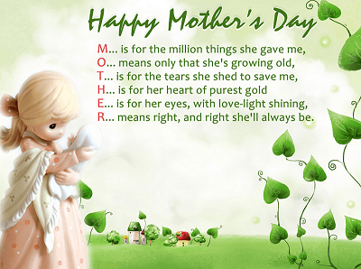 Happy Mothers Day Messages, SMS For Friends & Family ~ Happy