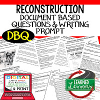 Reconstruction DBQ, Early American History DBQ, DBQ Document Based Question Writing Activity, American History Activities
