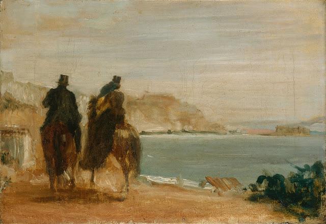 Эдгар Дега - Набережная рядом с морем (ок.1860)
