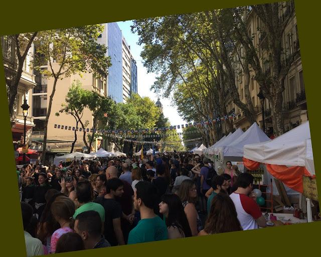 Av. de Mayo Street Celebration