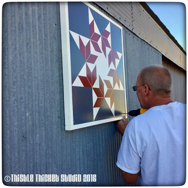 Thistle Thicket Studio, barn quilt, barn quilts, barn quilt instructions