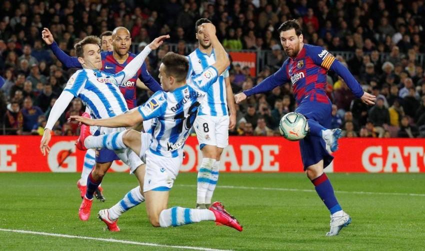 ملخص وأهداف برشلونة ضد ريال سوسيداد