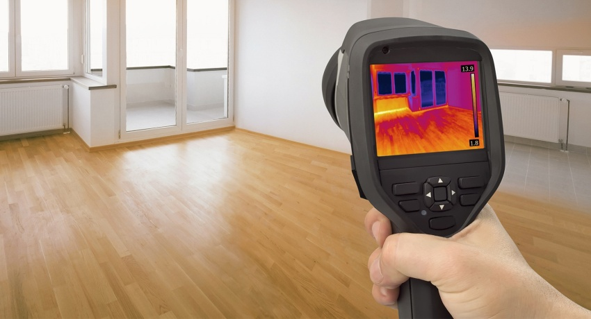 Inspection with a thermal imager