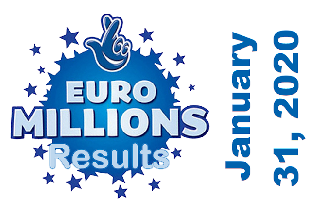 EuroMillions Results for Friday, January 31, 2020