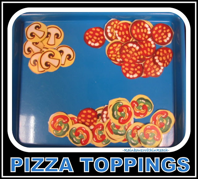 photo of: Pizza toppings for Day #3 of Delayed Gratification Art Process Project via RainbowsWithinReach