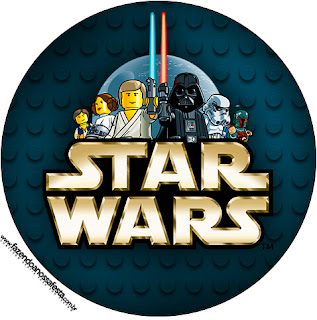 Toppers o Etiquetas de Star Wars Lego para imprimir gratis.