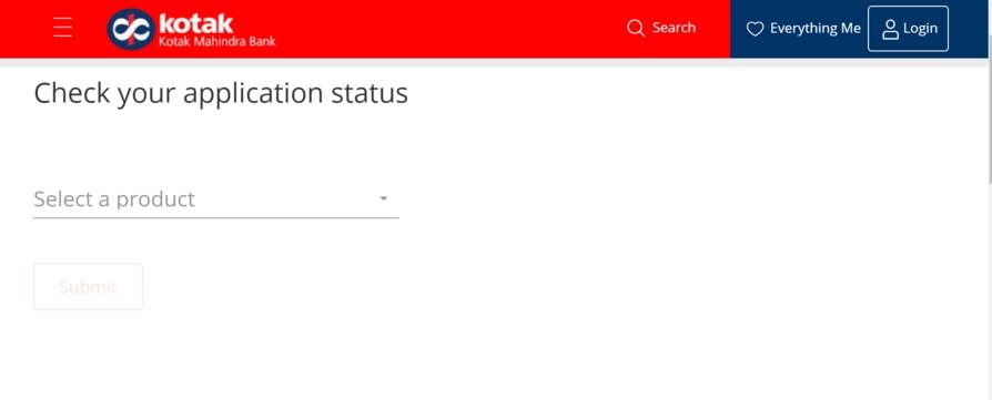 Check Kotak Bank Credit Card Application Status Online