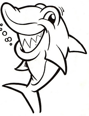 La Chachipedia Dibujos De Tiburones Para Colorear