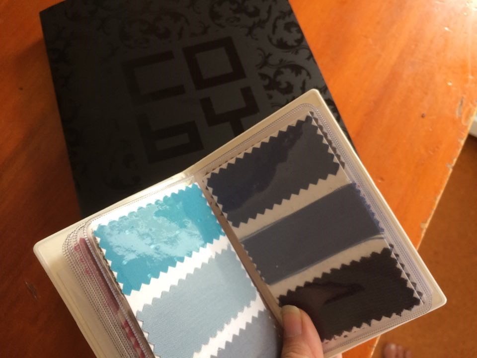 My colour swatch book from Coby