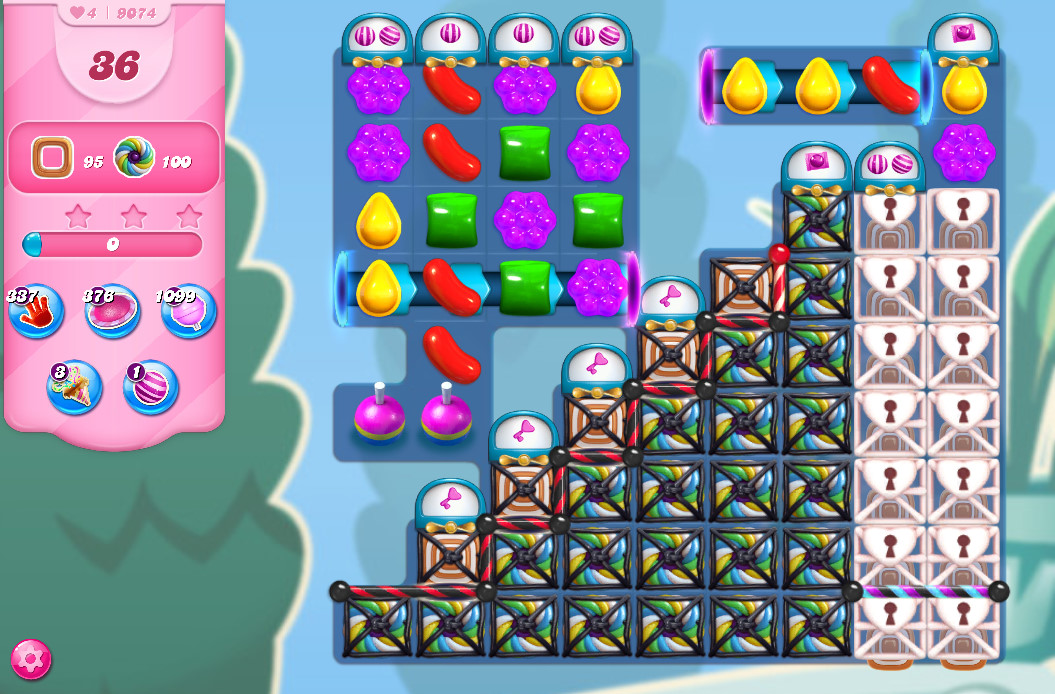 Candy Crush Saga level 9074