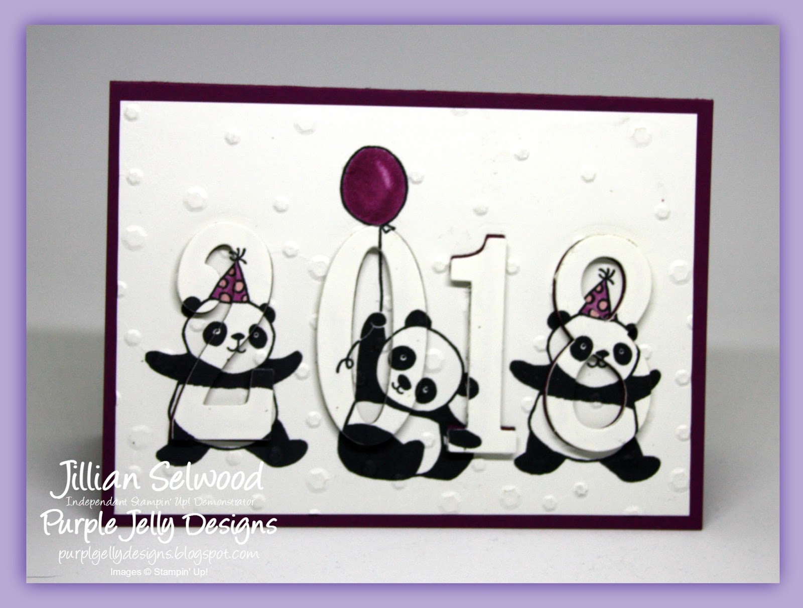 party pandas stamp set party invitation eclipse card stampin blends