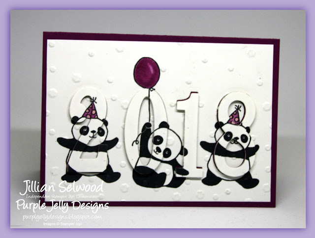 Party Pandas Stamp Set, Party Invitation, Eclipse card, Stampin' Blends