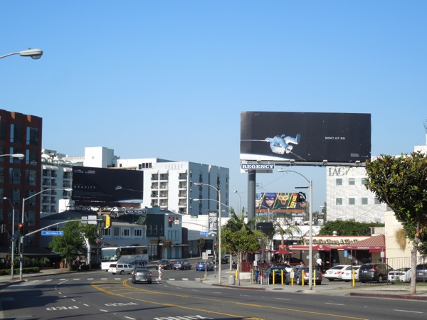 Gravity movie billboards Sunset Boulevard