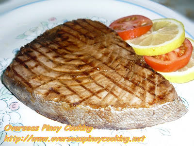 Grilled Tuna Steak, Inihaw na Bariles