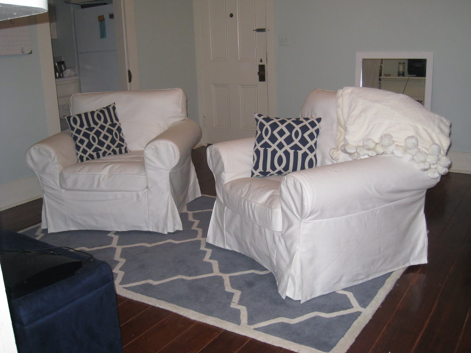 Chic Coles: Target Pillows/My Apartment Living Room