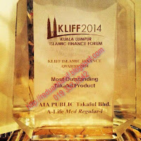 AIA Public Takaful Most Outstanding Takaful Product KLIFF 2015