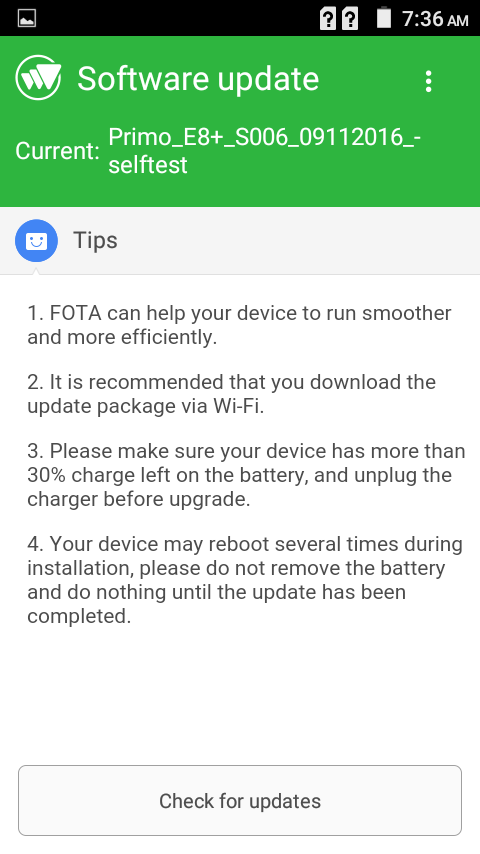 Primo E8+ hands-on review OTA Update
