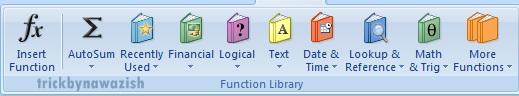 Formulas Tab Microsoft Excel