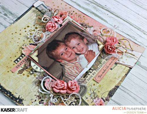 Kaisercraft Keepsake Layout by Alicia McNamara
