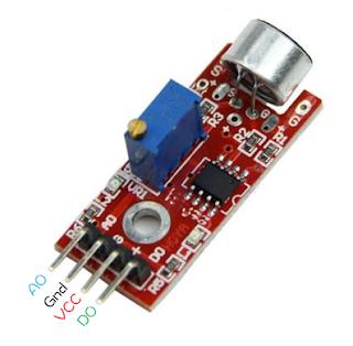 Menggunakan sensor suara(Condenser Mic Sensor)