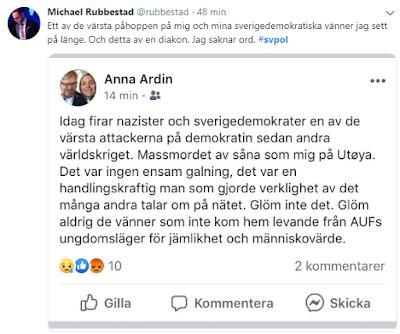 Åsiktsskändaren Anna Ardin bör inte få företräda S och Tro och Solidaritet.