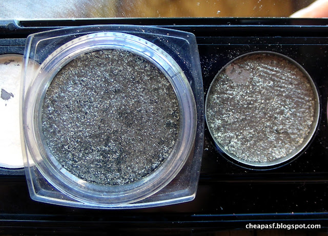 L'Oreal Infallible eyeshadow in Gilded Envy and Laura Mercier Baked Eyeshadow in Black Karat
