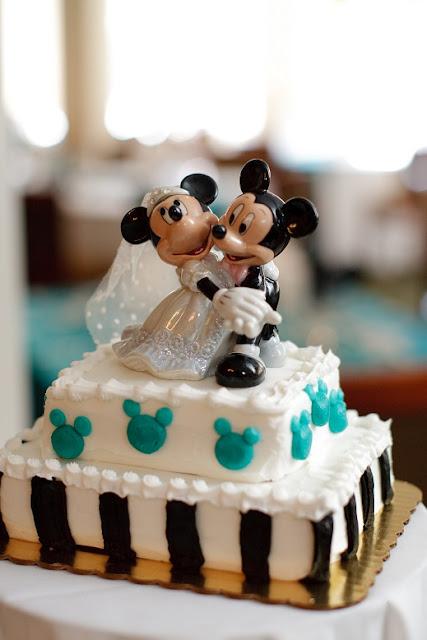 At Home Disney Wedding - Mickey Cake