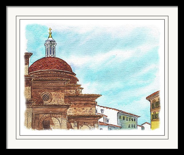 Italy watercolor artwork sketch