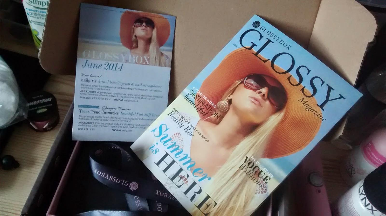 June Glossybox Magazine