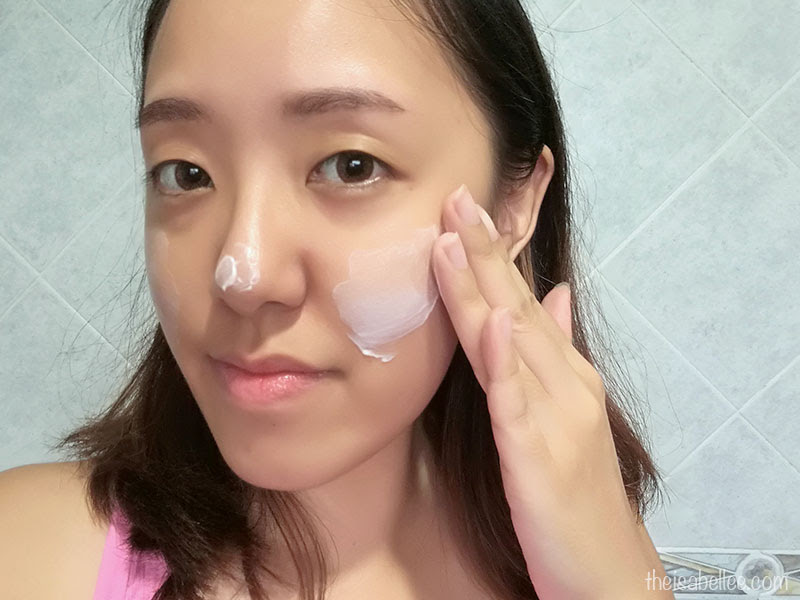 Applying Beaubelle Cleansing Milk