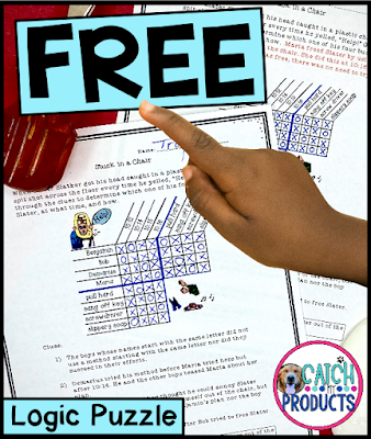 Teach critical thinking skills through logic puzzles for 3rd, 4th, 5th grade or 6th grade on Teacher Pay Teachers for schools first. #teaching #teacherblog #iteach345 #teachersfollowteachers #teacherlife