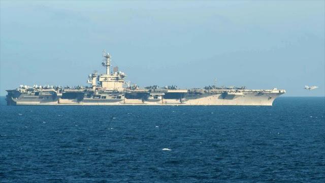 """""""Portaviones de EEUU no se atrevió a entrar en el Golfo Pérsico"""""""