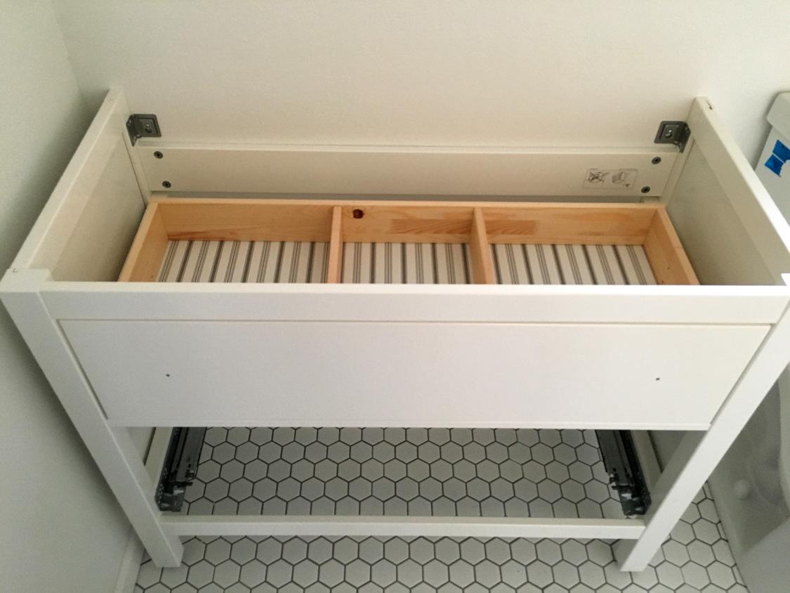 My proudest IKEA hack! Classy modern vanity from an IKEA favorite