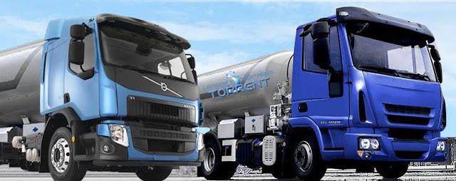Suministro de agua en camiones cuba