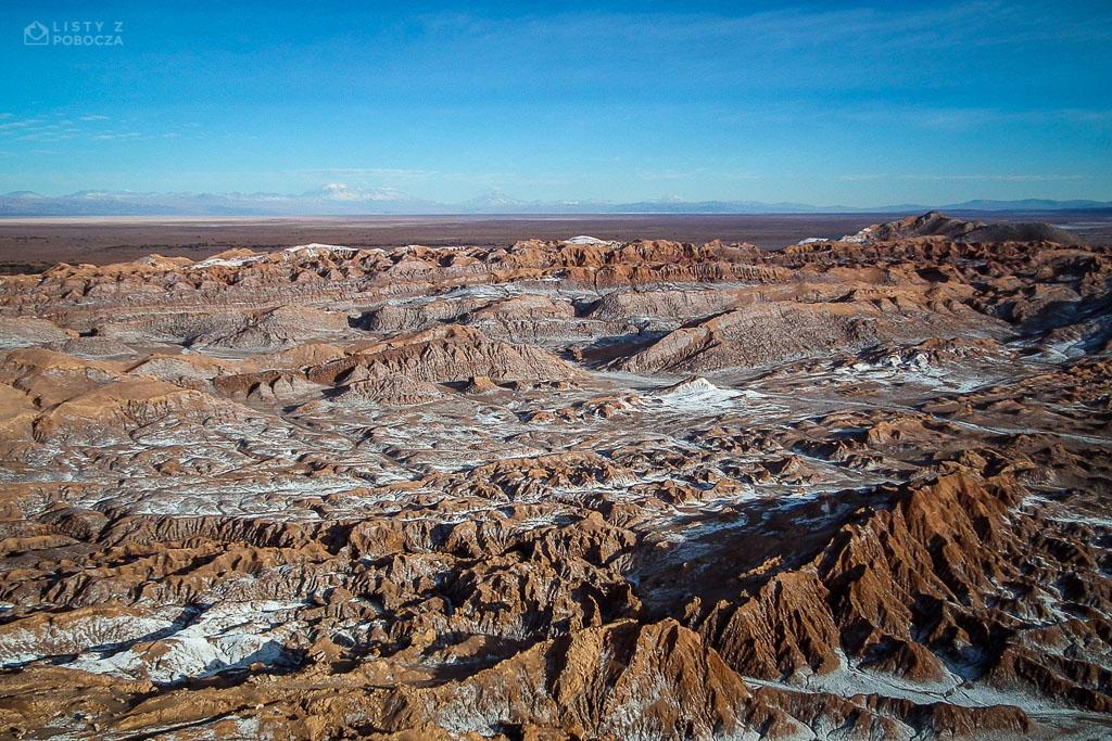 Dolina Księżycowa na Pustyni Atakama w Chile