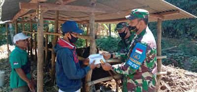 Kasad Jenderal TNI Serahkan Hewan Qurban  untuk Warga Pulau Bungin