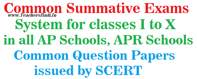 Common Summative Exams System,AP Schools,APR Schools
