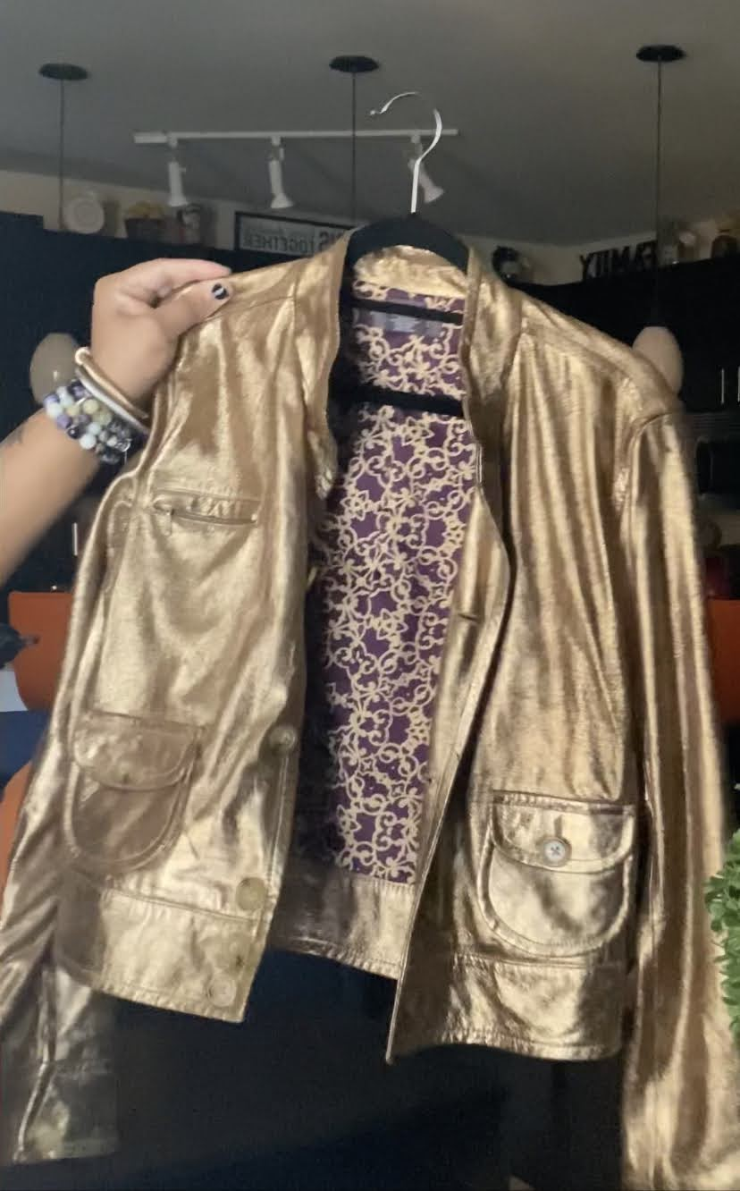 Gold thrifted shimmering jacket
