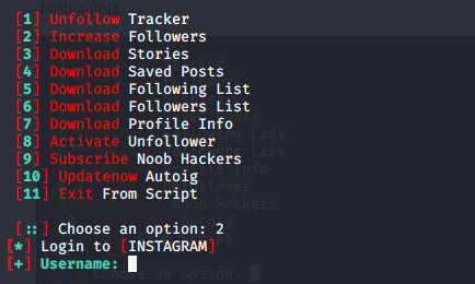 All in one instagram followers increasing tool