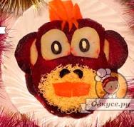 обезьяна на новогодний стол