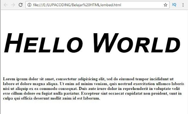 Belajar CSS Dasar Bagian 4 – Font Styling 5