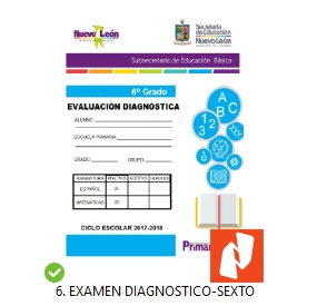 Examen Diagnostico 6to grado primaria