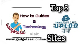 Top 5 website To Earn Money By Uploading File