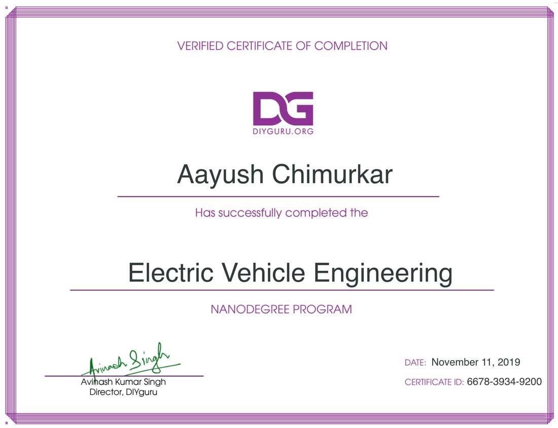 DIYguru Certificate