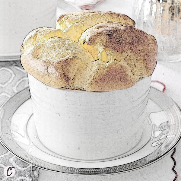 Three-Cheese 🧀 Souffle
