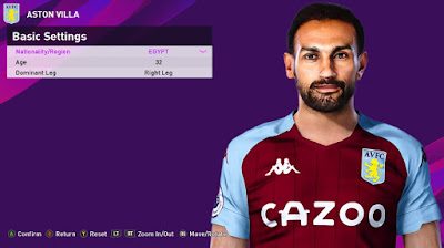 PES 2020 Faces Ahmed Elmohamady by Rachmad ABs