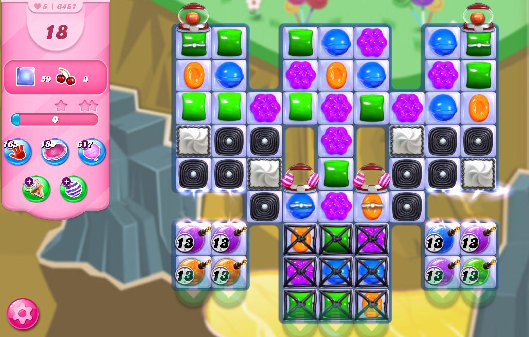Candy Crush Saga level 6457