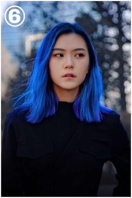 Split Dyed Hair